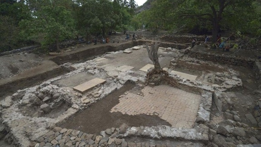 This is the site of the excavation of the earliest church yet discovered in sub-Saharan Africa, with some of the structure dating back to the late 15th century.