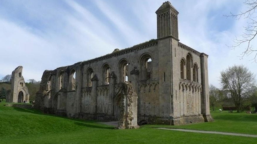 Glastonbury Abbey today.
