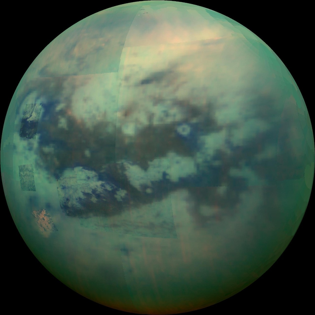 Saturn's largest moon Titan is bursting with color