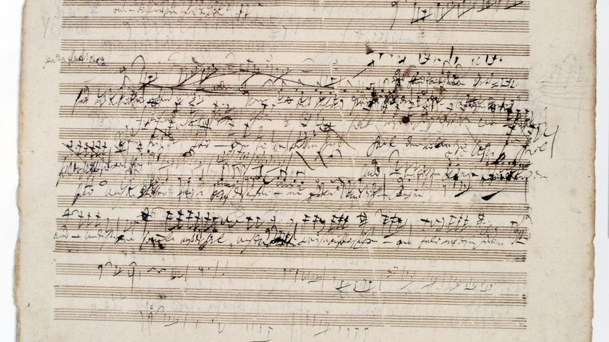 This photo shows the old Beethoven score.