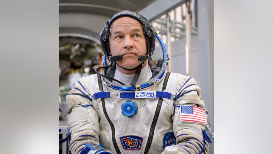 File photo - NASA Astronaut Jeff Williams listens to questions from the media Wednesday, March 4, 2015, at the Gagarin Cosmonaut Training Center (GCTC) in Star City, Russia. Photo Credit: (NASA/Bill Ingalls)