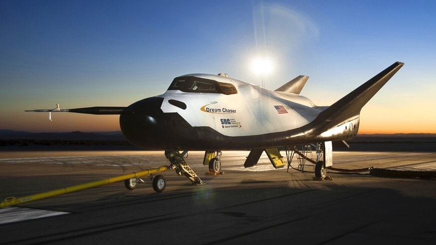 File photo - The Sierra Nevada Corporation (SNC) Dream Chaser flight vehicle is readied for 60 mph tow tests at NASA's Dryden Flight Research Center in Edwards, Calif., Aug. 2, 2013.  (REUTERS/NASA/Ken Ulbrich/Handout via Reuters)