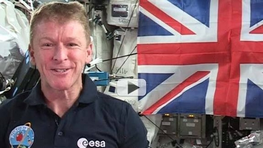 "British astronaut Tim Peake says he might be the first person to have said ""God save the queen"" in space."
