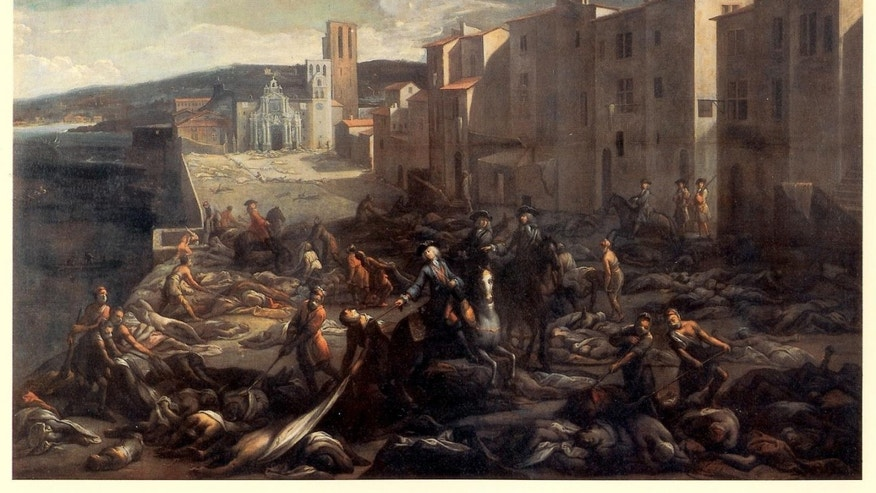 Marseille during the Great Plague of 1720 (public domain).