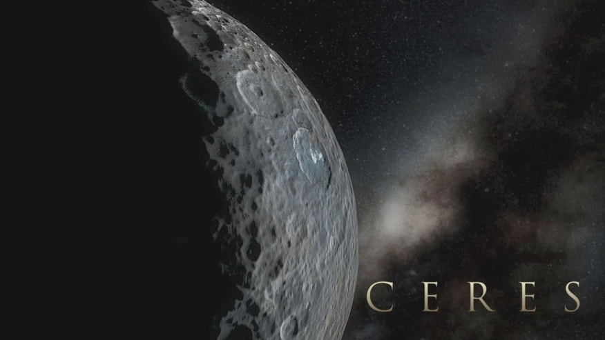 Simulated view of Dwarf planet Ceres using images from NASA's Dawn spacecraft. (NASA/JPL-Caltech/UCLA/MPS/DLR/IDA)