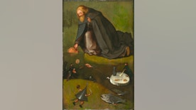 "This undated image provided by the Nelson-Atkins Museum of Art in Kansas City, Missouri, shows ""The Temptation of St. Anthony."" The museum announced Monday, Feb. 1, 2016, that the 16th century painting, owned by the Nelson-Atkins, was confirmed to have been painted by the Dutch artist Hieronymus Bosch. (Nelson-Atkins Museum of Art via AP)"