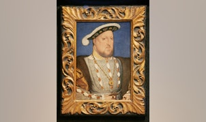 A portrait of sixteenth century British monarch Henry VIII by German artist Hans Holbein the Younger, at the Tate Britain in central London, September 26, 2006. Picture taken September 26, 2006.    REUTERS/Toby Melville (BRITAIN  - Tags: ENTERTAINMENT)   - RTR3FA89