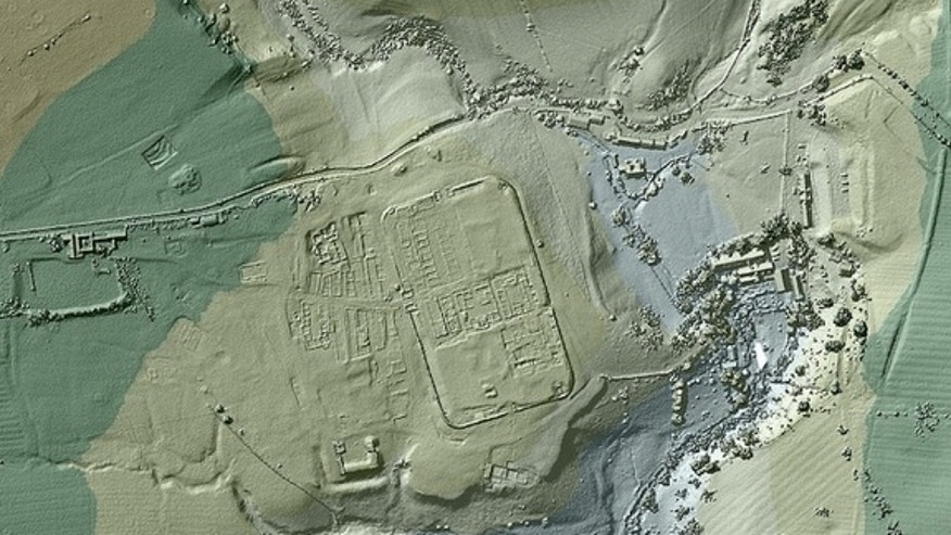 The U.K.'s Environmental Agency released this image of Vindolanda, a Roman fort in northern England, just south of Hadrian's Wall.