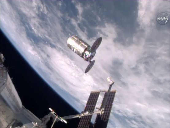 Space station astronauts give huge trash can the boot ...