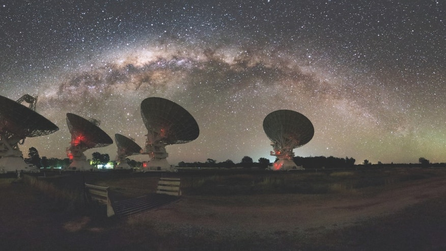 CSIRO's Compact Array in Australia. (Alex Cherney)