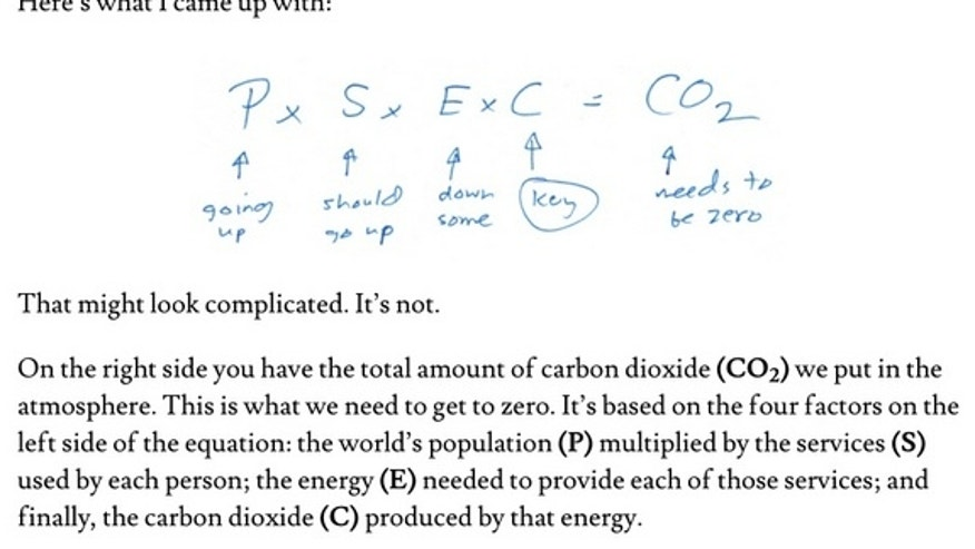 """The equation that Bill Gates """"discovered,"""" according to a letter he recently published."""