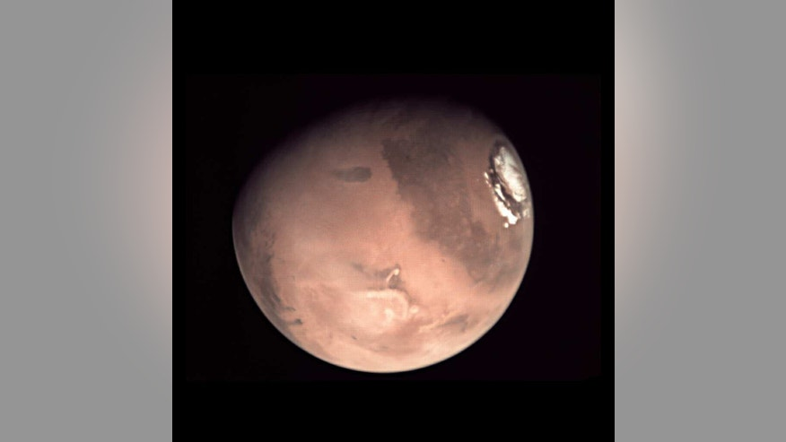 This is one of a series of images just released from the Mars Express, ESA's deep-space probe orbiting the Red Planet. Now known as the Mars Webcam, it has provided a wealth of Mars images – including whole-planet views and images of the Mars crescent and limb. (ESA/D. O'Donnell - CC BY-SA IGO)
