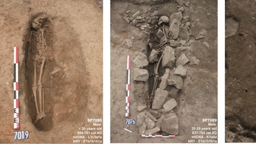 These three graves found in southern France likely belong to medieval-era Muslim men.