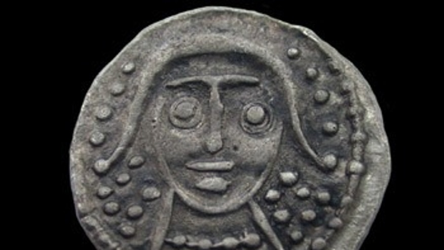 A Sceat, or coin, found at the site. (Credit: Portable Antiquities Scheme)