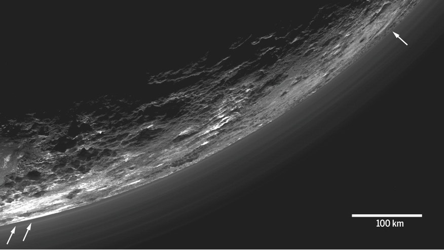 View of Pluto's Atmosphere