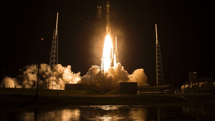 File photo - An Atlas V rocket is shown in this NASA handout carrying NASA's Magnetospheric Multiscale (MMS) spacecraft onboard launches from the Cape Canaveral Air Force Station Space Launch Complex 41, in Cape Canaveral, Florida, March 12, 2015. (REUTERS/Aubrey Gemignani/NASA/Handout via Reuters)