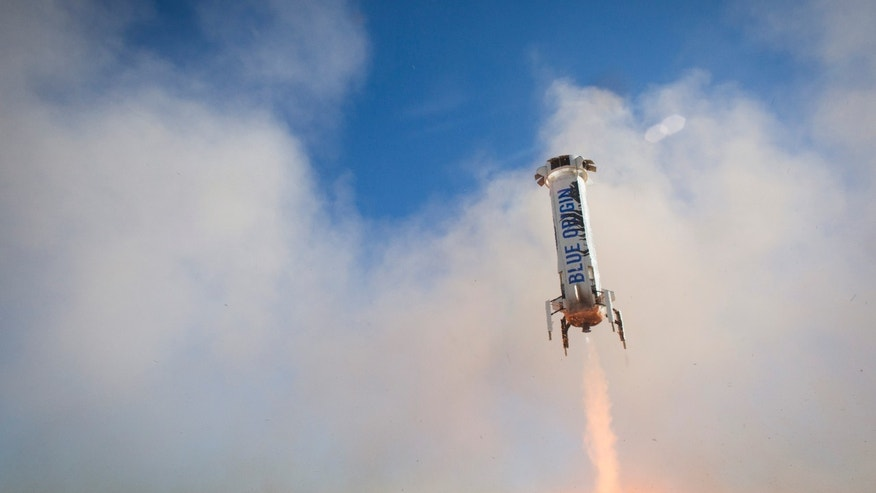 BE-3 restarted at 3,635 feet above ground level and ramped fast for a successful landing (Blue Origin).