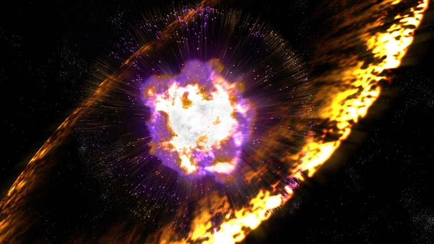 An artist's impression of a supernova (Greg Stewart, SLAC National Accelerator Lab).