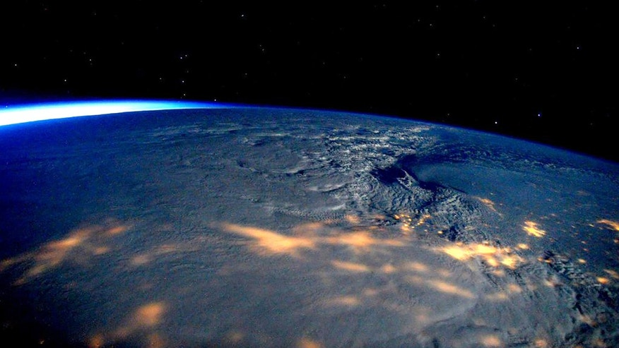 A winter storm affecting the U.S. East Coast is seen in a NASA picture taken from the International Space Station January 23, 2016. (REUTERS/NASA/Handout)