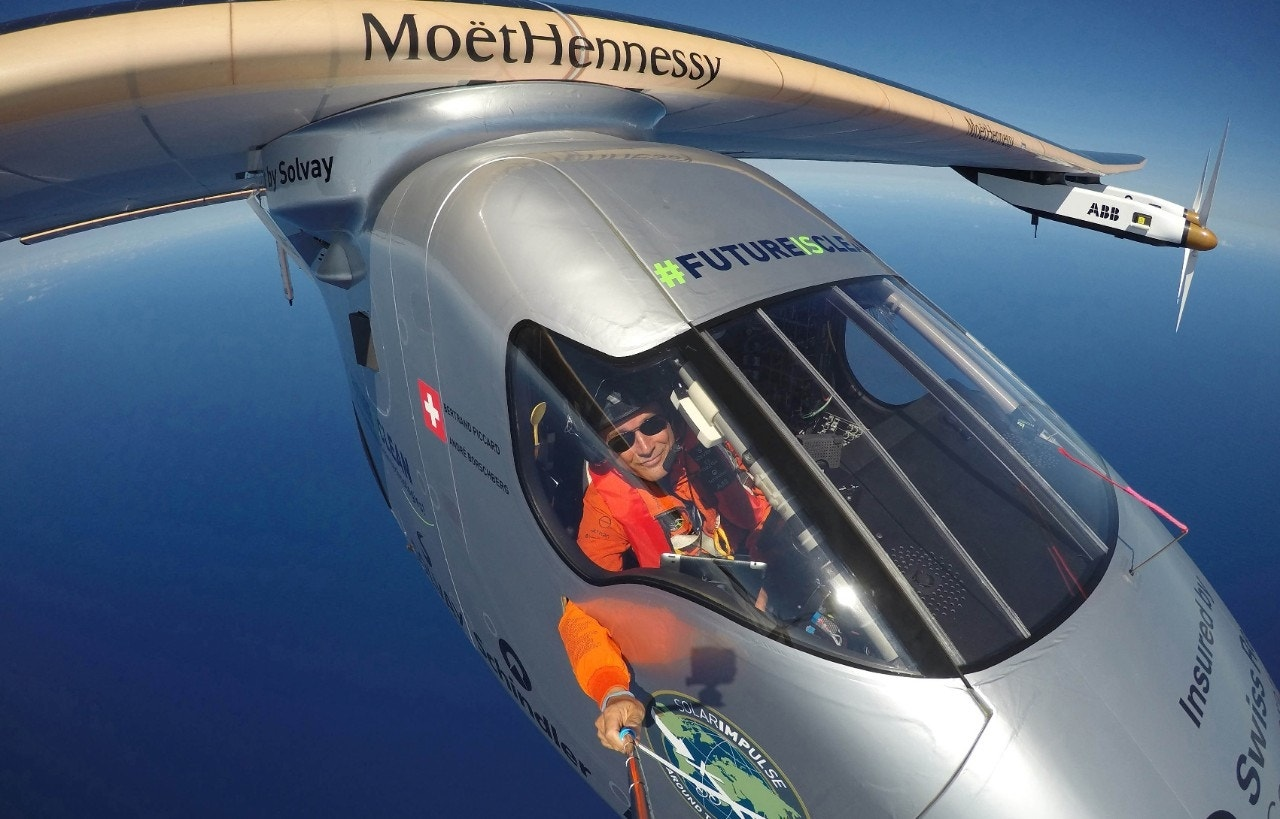 Solar-powered plane lands in California, completing risky trip across Pacific