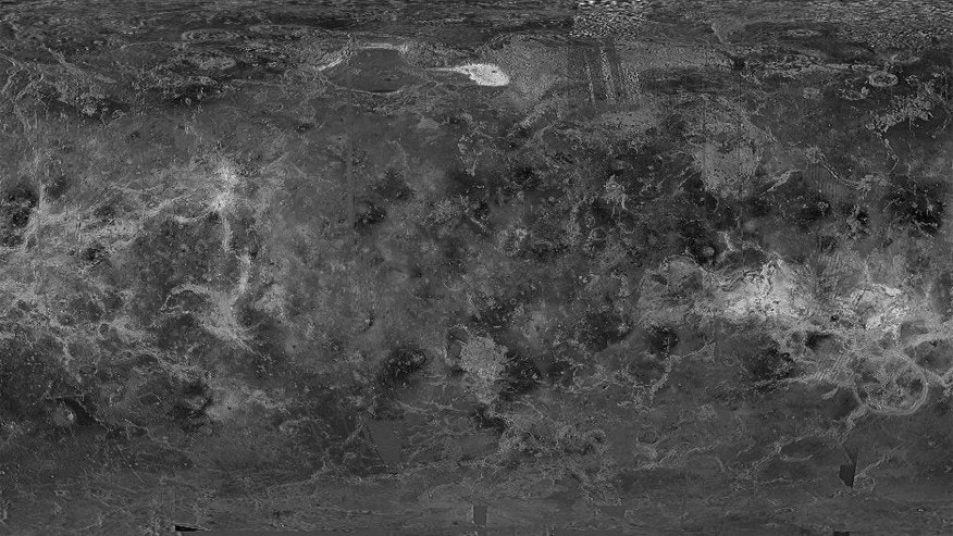 Venus image from NASA's Magellan probe – Venus Global GIS Mapping Application (usgs.gov)