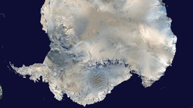 A satellite view of Antarctica is seen in this undated NASA handout photo obtained by Reuters February 6, 2012. Russian scientists are close to drilling in to the prehistoric sub-glacier Lake Vostok, which has been trapped under Antarctic ice for 14 million years.  REUTERS/NASA/Handout (UNITED STATES - Tags: SCIENCE TECHNOLOGY) THIS IMAGE HAS BEEN SUPPLIED BY A THIRD PARTY. IT IS DISTRIBUTED, EXACTLY AS RECEIVED BY REUTERS, AS A SERVICE TO CLIENTS. FOR EDITORIAL USE ONLY. NOT FOR SALE FOR MARKETING OR ADVERTISING CAMPAIGNS - RTR2XFEI