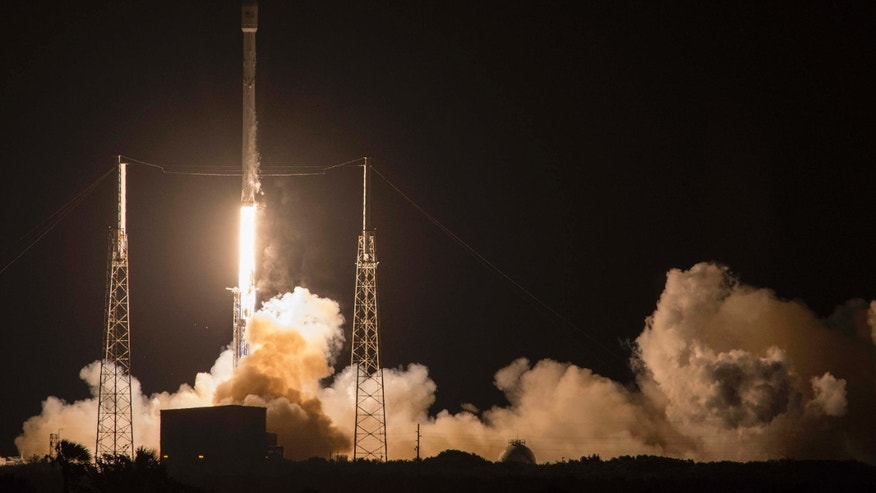 May 6, 2016: SpaceX's Falcon 9 rocket launches the JCSAT-14 communications satellite at Cape Canaveral, Fla.