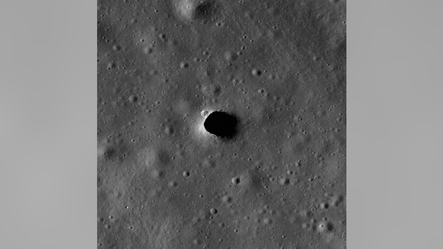 A large pit in the Marius Hills of the moon may be a skylight leading into a subsurface cave known as a lava tube. Skylights could provide astronauts with an entrance to a lava tube, where they could seek shelter from the