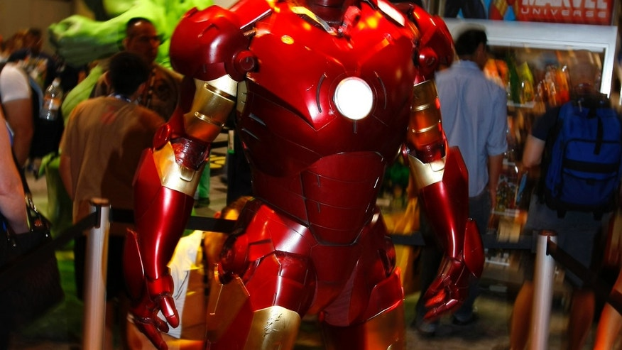"File photo - A life size ""Iron Man"" is on display in the Marvel booth at the 39th annual Comic Con Convention in San Diego July 24, 2008. (REUTERS/Mike Blake)"