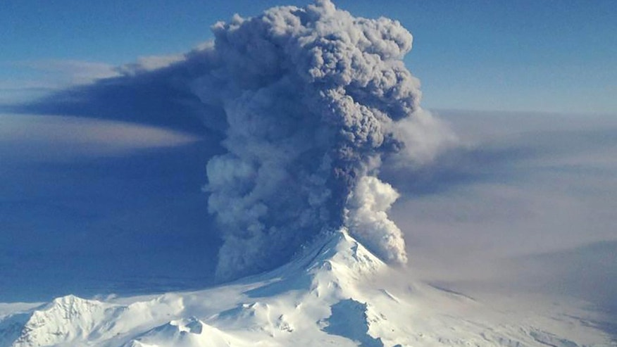 April 6, 2016: File handout photo of the Pavlof Volcano erupting in Alaska.