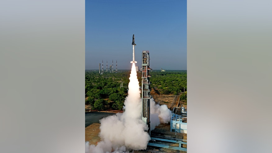 RLV-TD test launch (ISRO).