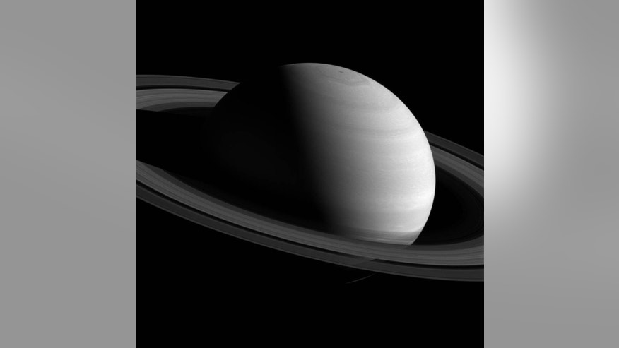 An image of Saturn, taken by the Cassini probe on Feb. 26, 2016.
