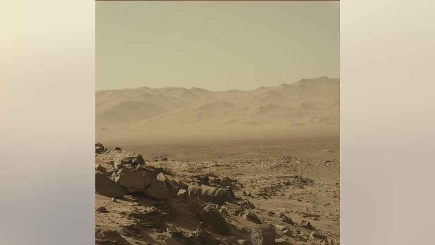 Mars as viewed by NASA's Curiosity rover. Nice vistas, but what does the Red Planet smell like?