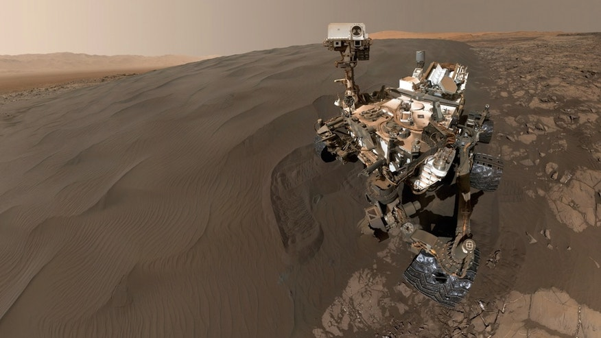 NASA's Mars rover Curiosity captured this self-portrait at the Namib Dune of the Bagnold Dune Field.