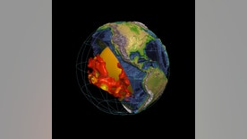 Mysterious blobs of distinct rock are imaged using waves from earthquakes (model from French and Romanowicz, 2015, Nature).