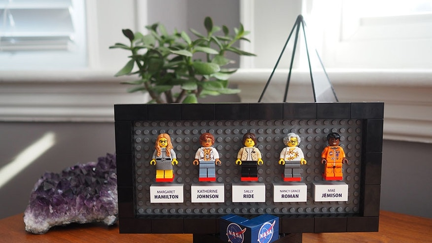 A fan-proposed set of LEGO minifigures celebrates five pioneering women in NASA history.