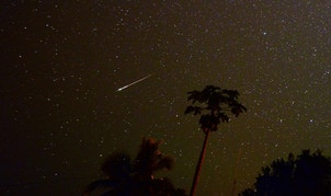 Astrophotographer Jim Denny captured this photo of a Southern Delta Aquarid meteor on July 30, 2014, in Kekaha, Kauai, Hawaii.