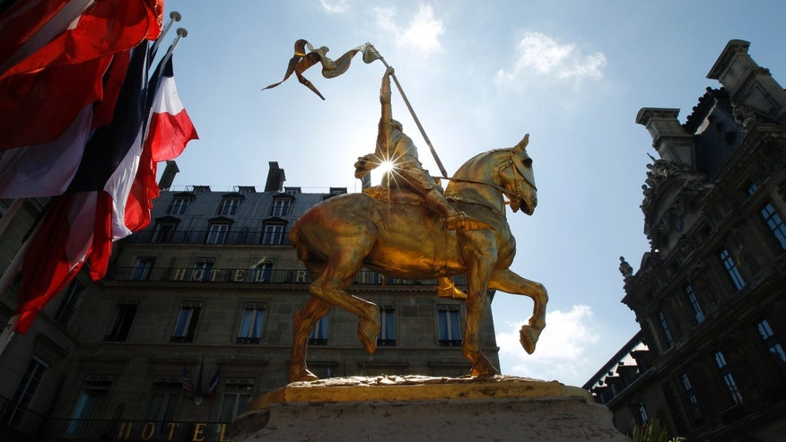 File photo: A statue of Joan of Arc in Paris.