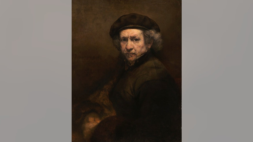 Rembrandt made nearly 100 self-portraits from the 1620s until his death in 1669, including around 50 paintings as well as dozens of etchings and drawings. This Rembrandt self-portrait in oil on canvas from 1659 is nearly