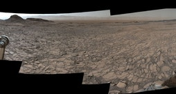 Murray Buttes, a series of sandstone features on the surface of Mars, was imaged by the Curiosity Rover on Aug. 5, 2016.
