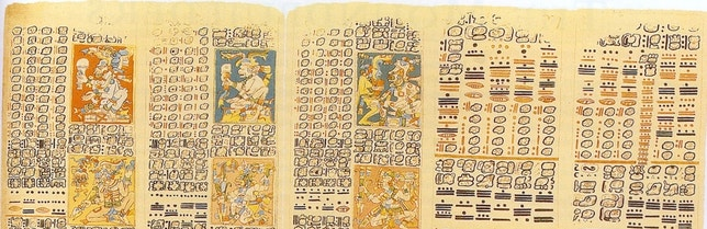 An ancient Mayan Text called the Dresden Codex contains detailed recordings of the phases of Venus in its Venus Table, on pages 46 to 50. Data in the Venus Table may have been gathered by astronomers to help time ritual e