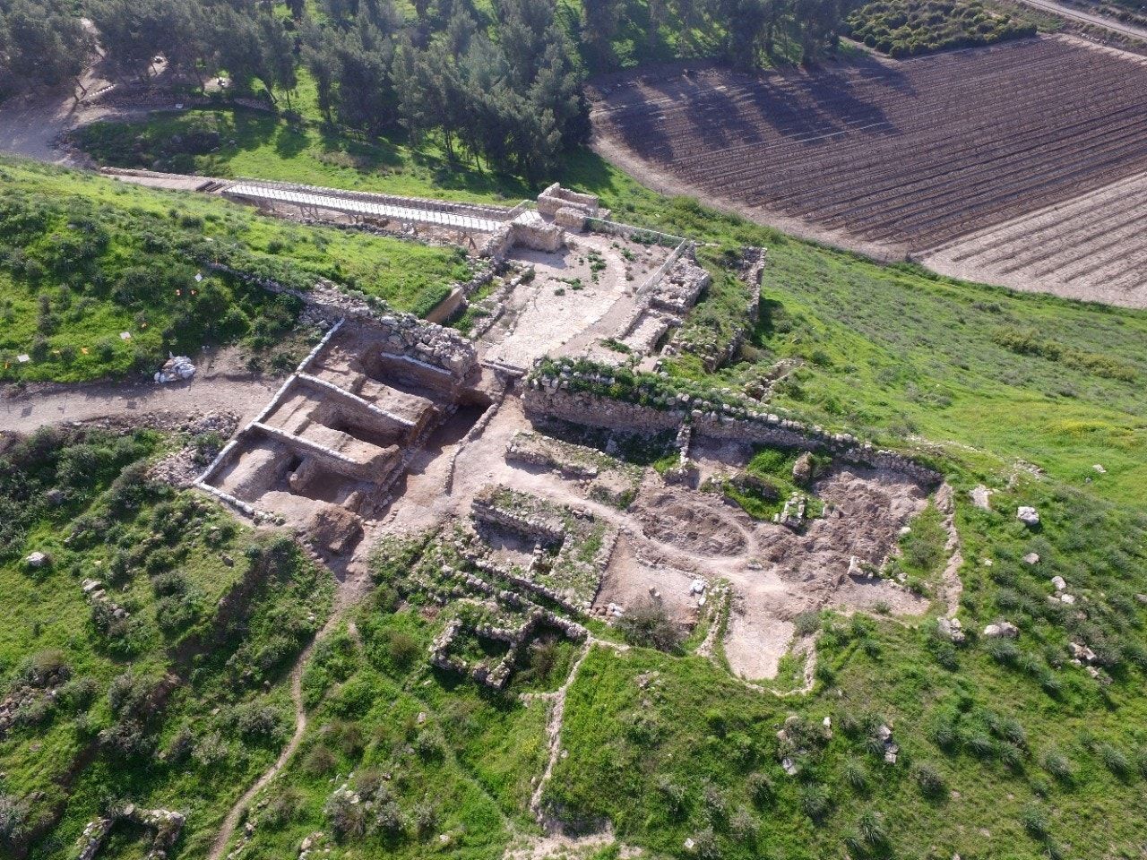 Archaeologists unearth ancient gate-shrine in Israel