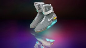 """Nike Mags are the self-lacing sneakers that """"Back to the Future"""" fans have been waiting for."""