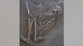 The 800-year-old skeleton now called Kaakutja had a long gash in its skull, likely due to a boomerang attack.
