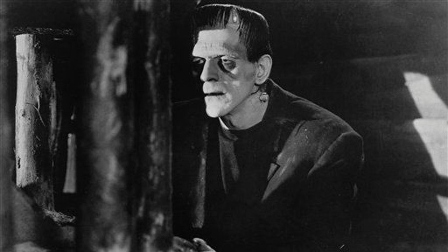 """In this file photo released by Universal Studios Home Entertainment, Boris Karloff appears in a scene from the 1931 film """"Frankenstein."""""""