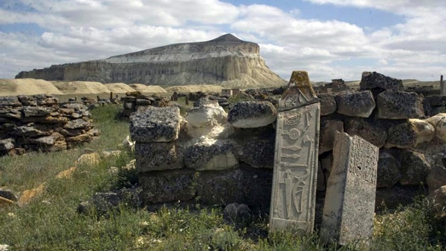 A massive stone structure, dating back 1,500 years, has been discovered along the Caspian Sea.