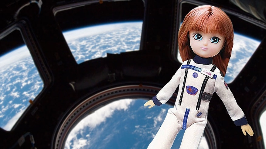 Previously only pictured on social media, Arklu plans to release in 2017 a spacesuit accessory for its Stargazer Lottie doll, which flew to the International Space Station in 2015.