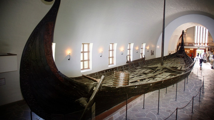File photo - A longboat, known as the Oseberg ship, is seen on display at the Viking Ship Museum in Oslo Sept. 11, 2007. (REUTERS/Heiko Junge/Scanpix Norway)