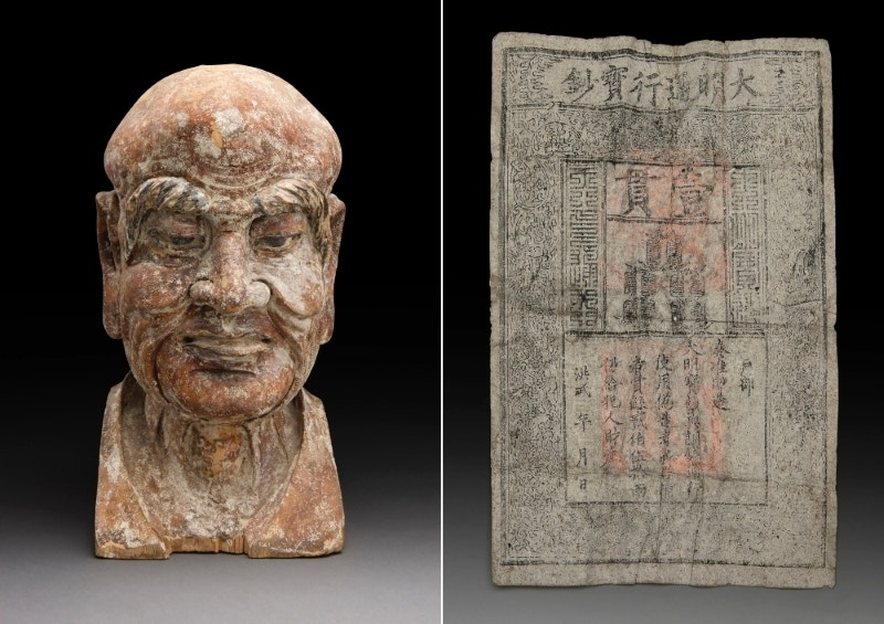Stashed cash: Rare Ming Dynasty banknote found inside Chinese sculpture