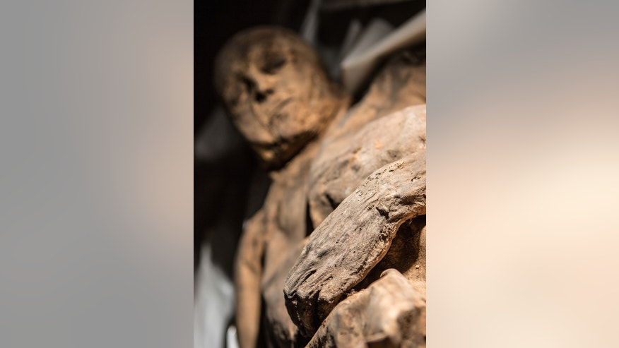 The child mummy with smallpox that researchers discovered in a Lithuanian Church.